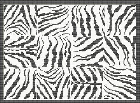 ZEBRA STRIPES CROCHET PATTERN