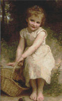 CHILD In Pink Dress   CROSS STITCH PATTERN CHART