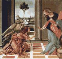 Botticelli Annunciation Cross Stitch Pattern Chart