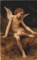 Cupid Cherub Reclining Cross Stitch Pattern Chart