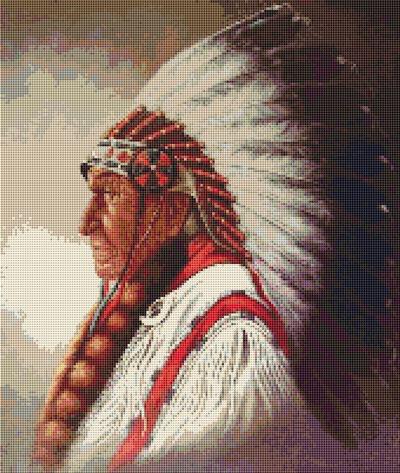 Cross Stitch Patterns Western Native American Indian