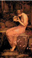 Psyche with Golden Box Mythical Cross Stitch Pattern