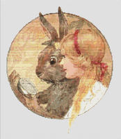 Alice In Wonderland With the March Hare CROSS STITCH PATTERN