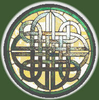 CELTIC KNOT Stained Glass CROSS STITCH PATTERN CHART