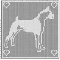 Boxer Dog FILET CROCHET PATTERN Doily Afghan Picture