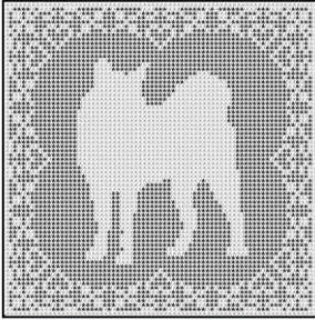 Filet Crochet Patterns - Butterflies/Insects - BUTTERFLY Runner