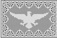Free Filet Crochet Charts and Patterns: Filet Crochet Eagle - Chart 1