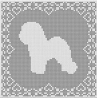 Bichon Frise Dog FILET CROCHET PATTERN Free Shipping