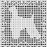 Afghan Hound Dog FILET CROCHET PATTERN