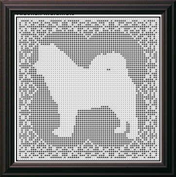 Cross Stitch Patterns Dogs Alaskan Malamute Samoyed