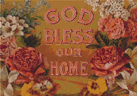 GOD BLESS OUR HOME Floral CROSS STITCH PATTERN
