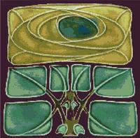 Mackintosh Rose Mission Celtic Cross Stitch Pattern