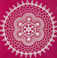SWIRLS Vintage 12 1 2   CROCHET DOILY PATTERN Reproduced Pattern