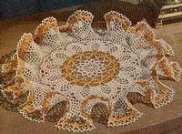 DAISY FRILLS Ruffled Vintage CROCHET DOILY PATTERN