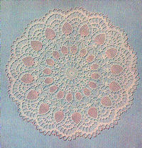 PINEAPPLE 17   Vintage CROCHET DOILY PATTERN Centerpiece Reproduced Pattern
