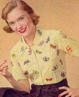 Vintage Crochet Pattern BUTTERFLIES Trim For Clothing & Decor