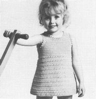 Dainty GIRL S SLEEVELESS DRESS CROCHET PATTERN Sizes 1 6
