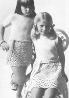 Girls CROCHETED KNITTED DRESS PATTERN With BELT