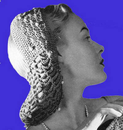 Crocheted Snood Headband - AllFreeCrochet.com - Free