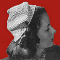 Ravelry: Green Tassel Hat Crochet Pattern All sizes