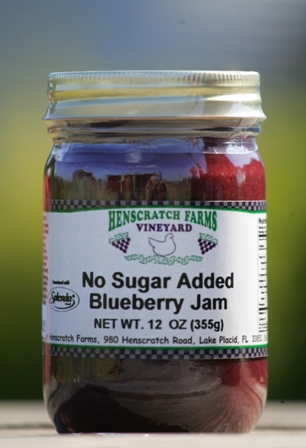 Blueberry Jam No Sugar Added