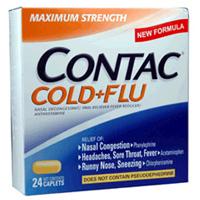 Contac Cold + Flu Maximum Strength Caplets 24