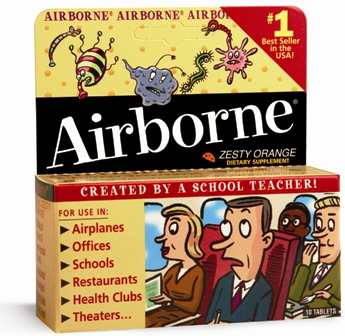 Airborne Effervescent Original Orange Flavor Tablets 10