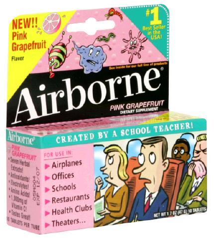 Airborne Effervescent Grapefruit Tablets 10