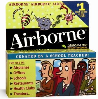 Airborne Effervescent Lemmon Lime Tablets 10