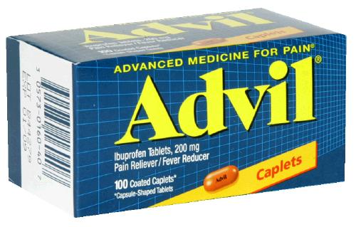 Advil 200 mg Pain Reliever Caplets 100