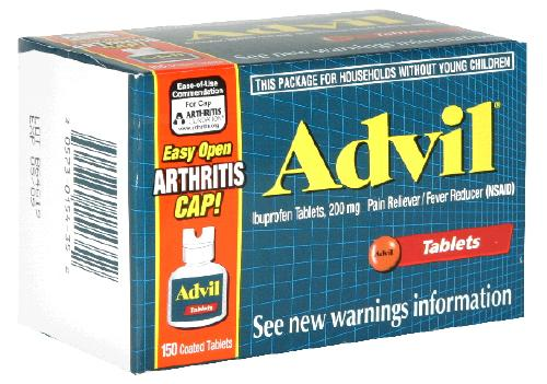 Advil Easy Open Arthritis Cap 200 mg Ibuprofen Tablets 150