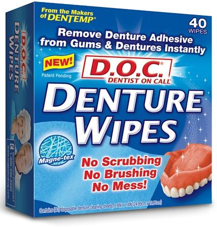 Image 0 of D.O.C Denture Wipes 40