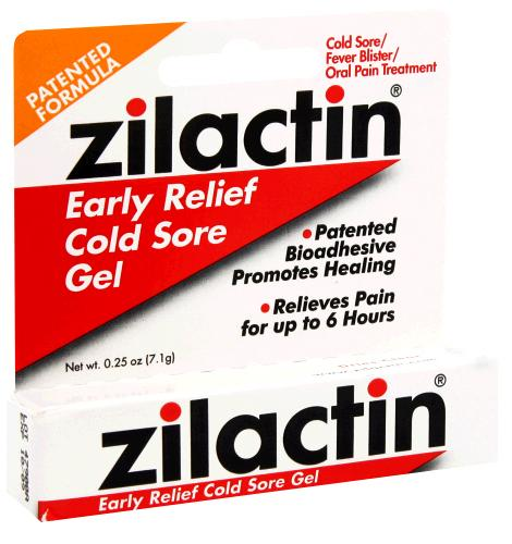 Zilactin Early Relief Cold Gel 0.25 Oz.