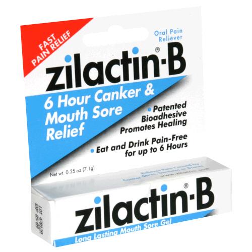 Zilactin-B Canker Mouth Sore Gel 0.25 Oz.