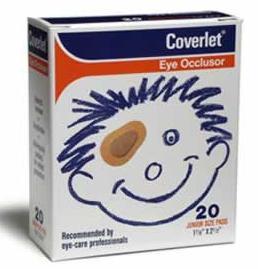 Coverlet Eye Occlusor Junior Size Bandages 20