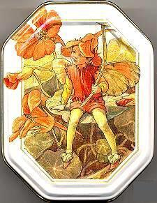 Jewelry Trinket Box Cicely Mary Barker Tin Nasturtium Flower Fairy