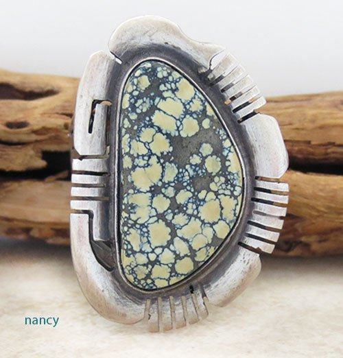 Sterling Silver & Turquoise Ring size 10 Navajo Made - 2159sw