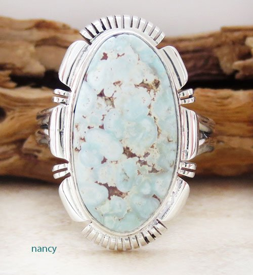 Dry Creek Turquoise & Sterling Silver Ring size 9 Navajo Made - 2175rio