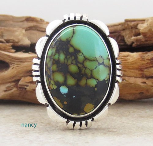 Turquoise & Sterling Silver Ring size 7 Navajo Made - 2329pl