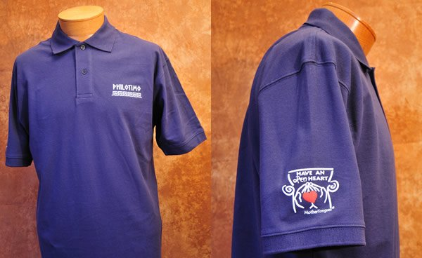 Philotimo polo shirt. Organic cotton. Have an open heart.