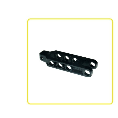 LEGO PART 30396 HINGE 1 X 2 LOCKING 2 FINGERS TOWBALL SOCKET BLACK X2