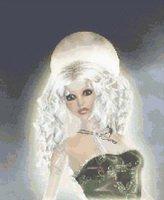 Moonlight Goddess Cross Stitch Pattern