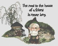 Road to Gnome Home Cross Stitch Pattern