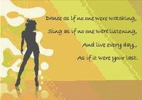 Dance As If... Motto Cross Stitch Pattern Chart Greens