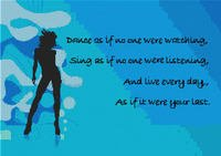 Dance As If... Mott Cross Stitch Pattern Chart   Blues