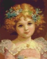 Girl with Flowers in Her Hair Cross Stitch Pattern
