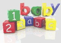 Baby Blocks Primary Colors 123 ABC Cross Stitch Pattern