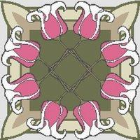 Celtic Knot Bleeding Hearts Cross Stitch Pattern