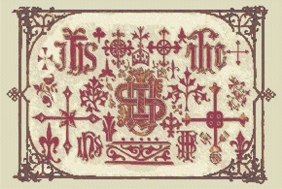 Cross Stitch Patterns Christianreligious Medieval Sampler