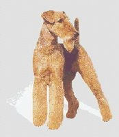 Airedale Terrier Dog CROSS Counted Cross Stitch Pattern